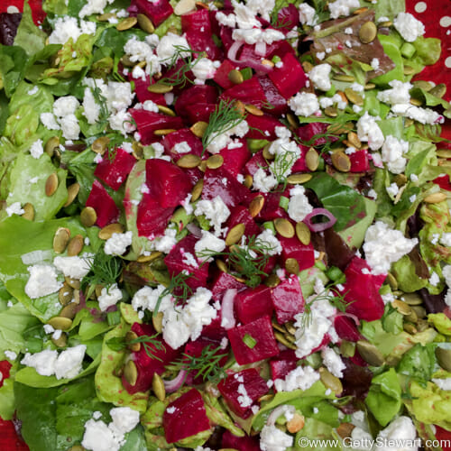Roasted Beet Salad with Goat Cheese - GettyStewart.com