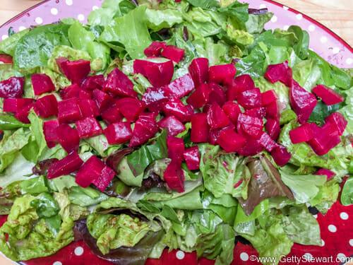 dressing roasted beet salad