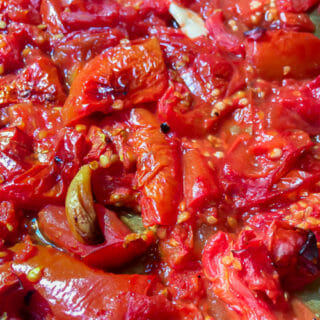 finished roasted tomatoes many