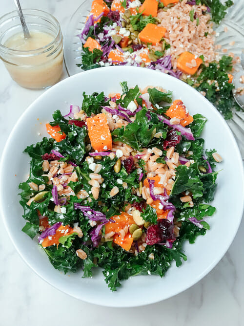 Whole Grain Salad With Kale And Butternut Squash
