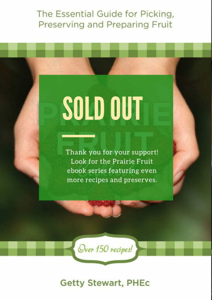 Prairie Fruit Cookbook sold out